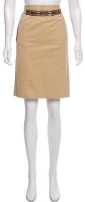 Ralph Lauren Belted Knee-Length Skirt Tan Belted Knee-Length Skirt