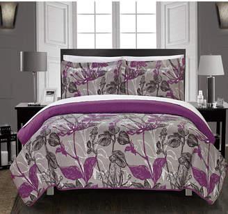 Chic Home Botanic Garden 7 Piece Queen Bed in a Bag Quilt Set Bedding