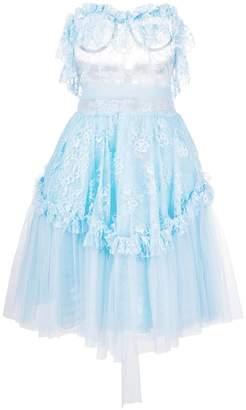 DSQUARED2 sheer frill-trim dress