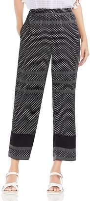 Vince Camuto Diamond Geo Stripe Straight Ankle Pants
