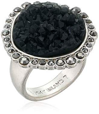 Lucky Brand Pave Druzy Statement Ring