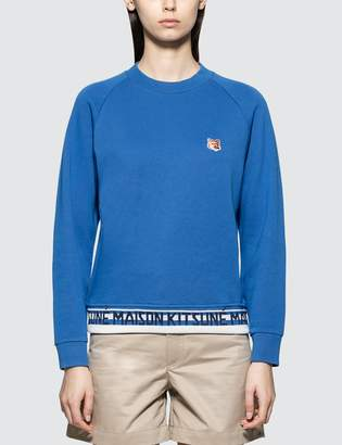 MAISON KITSUNÉ Fox Head Patch Jacquard Sweatshirt
