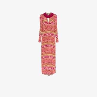 Johanna Ortiz bohemian rhapsody silk maxi dress