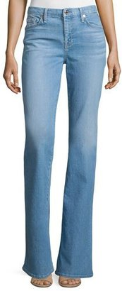 7 For All Mankind 'A' Pocket Boot-Cut Jeans, Palisades Blue $215 thestylecure.com