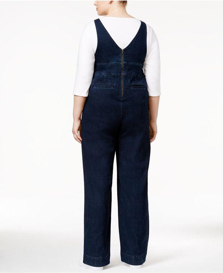 Melissa McCarthy Trendy Plus Size My Girl Wash Overalls