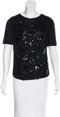 Lanvin Embellished Short Sleeve T-Shirt w/ Tags