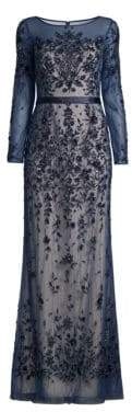 Basix II Black Label Ills Floral Embellished Gown