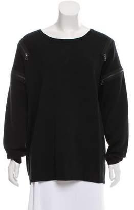 J Brand Merino Wool Zip Accented Sweater
