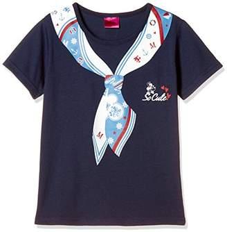 Disney (ディズニー) - [ディズニー] バンダナ風プリントTシャツ 332227571 ガールズ ネイビー 日本 140 (日本サイズ140 相当)