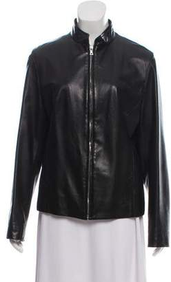 Loro Piana Cashmere- Lined Leather Jacket