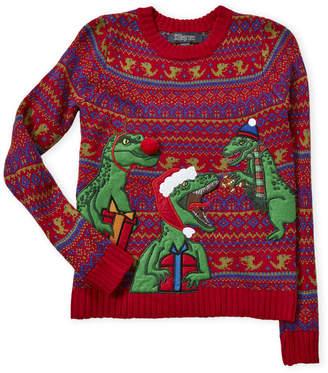 33 Degrees (Boys 8-20) Fair Isle Dinosaur Sweater