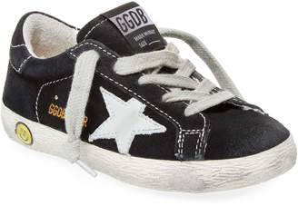 Golden Goose Leather Patched Flat Sneaker