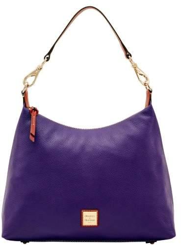 Dooney & Bourke Pebble Grain Juliette Hobo Shoulder Bag - PLUM - STYLE