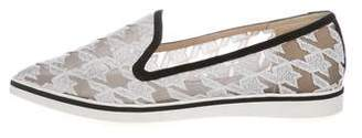 Nicholas Kirkwood Embroidered Pointed-Toe Loafers