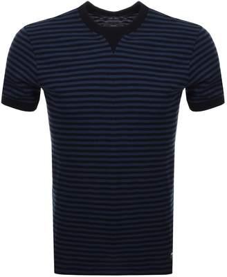 Edwin Crew Neck International Striped T Shirt Navy