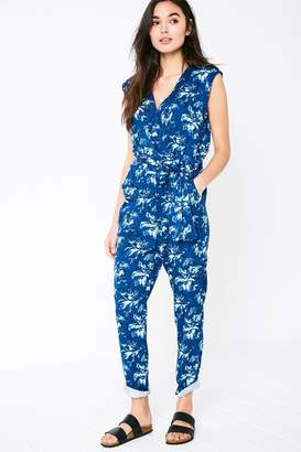 Jack Wills Greencroft Floral Wrap Front Jumpsuit