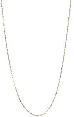 Primavera Tri-Tone Sterling Silver Daisy Chain Long Necklace