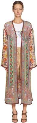 Etro Printed Silk Georgette Long Kimono
