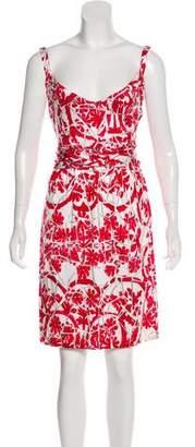 Gucci Silk-Blend Sleeveless Dress