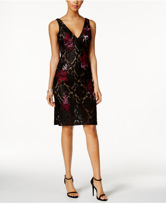 Betsy & Adam Lace Sheath Dress $259 thestylecure.com