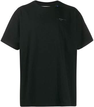 Off-White Off White unfinished t-shirt black