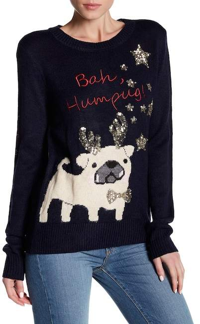 Poof Puppy Bah Humbug Sweater