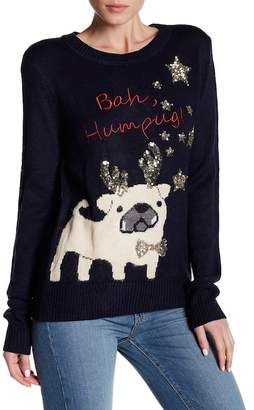 Poof Puppy Bah Humbug Sweater $48 thestylecure.com