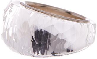 Swarovski Sterling Silver Nirvana Swarovski Crystal Ring - Size 6 $169 thestylecure.com