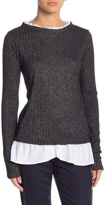 Olivia Sky Ribbed Ruffle Sweater