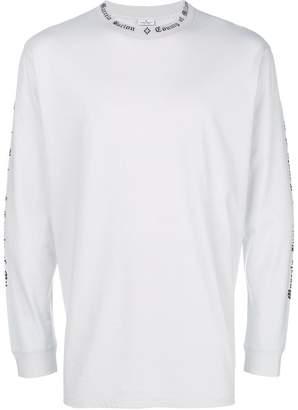 Marcelo Burlon County of Milan printed-trim sweatshirt