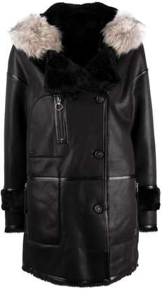 Urban Code Urbancode fur hood trim coat