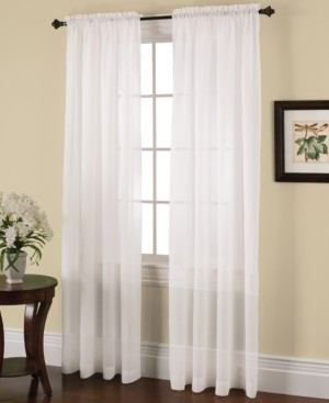 Miller Curtains Miller Curtains Solunar Crushed Voile Insulating Sheer Curtain Panel Collection