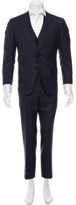 Tom Ford Wool Pinstripe Three-Piece Suit