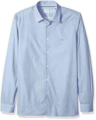 Lacoste Men's Long Sleeve Slim FIT Jacquard Fancy POPLIN