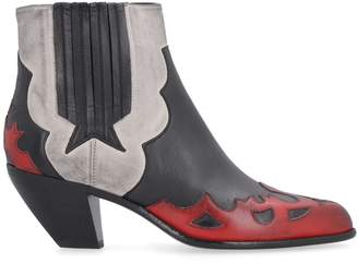 Golden Goose Sunset Flowers Pointy-toe Cowboy Boots