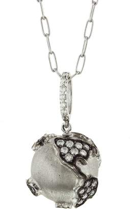 Sharon Khazzam Diamond World Globe Necklace