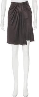 Versace Satin Draped Skirt Satin Draped Skirt