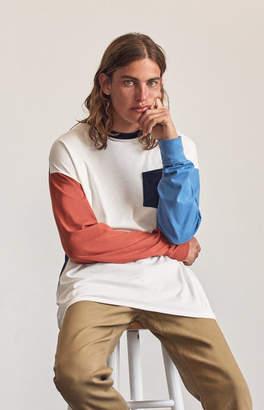 GUESS Pacsun Sadow Colorblock Oversized Long Sleeve Pocket T-Shirt