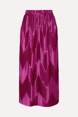 Givenchy Pleated Satin Midi Skirt - Pink