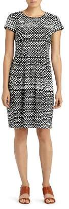 Lafayette 148 New York Gina Geo Print Sheath Dress