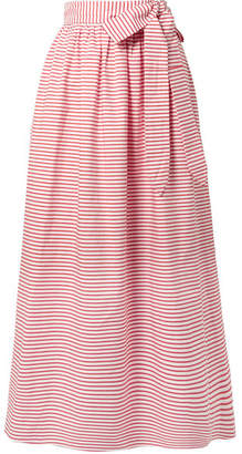 Mara Hoffman Katrine Striped Organic Cotton Wrap Skirt - Red