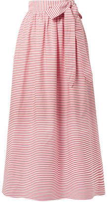 Mara Hoffman Katrine Striped Organic Cotton Wrap Skirt - Red