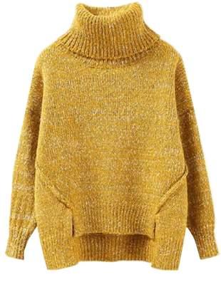 Goodnight Macaroon 'Greta' Roll Neck Chunky Knit Sweater (4 Colors)