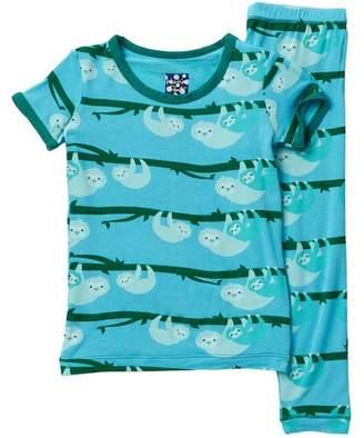 Kickee Pants Printed Confetti Skunk Short Sleeve Pajama Set (Baby, Toddler, Little Boys, & Big Boys)
