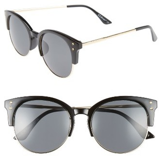 Women's A.j. Morgan Newport 55Mm Retro Sunglasses - Black $24 thestylecure.com