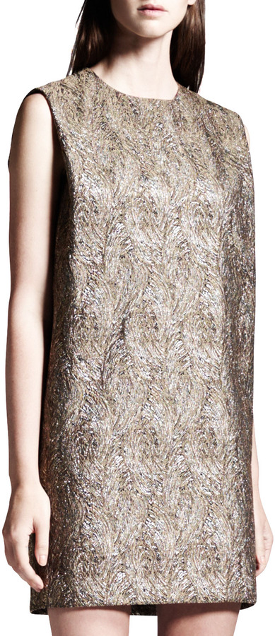 Saint Laurent Belted Boucle Minidress