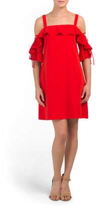 Cold Shoulder Lace Up Detail Dress
