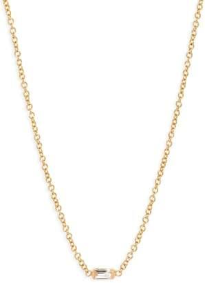 Chicco Zoe Diamond Baguette Pendant Necklace