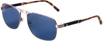 Montblanc MB 655S Tortoiseshell-Look Navigator Sunglasses