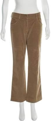 Prada Sport Leather-Trimmed Corduroy Pants